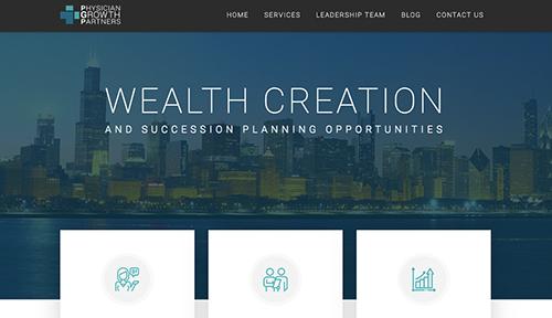 Portfolio example for website copywriting work