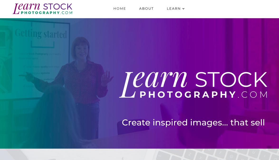 Screenshot of customer website for copywriting and brand marketing